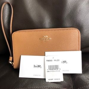 Coach Crossgrain Leather Phone Wallet